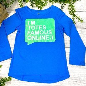 NEW Kids 3/4 Length Blue Graphic Tee 5